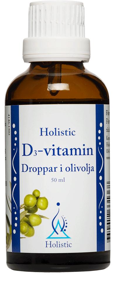Holistic D-vitamin Droppar i olivolja (Witamina D3 witamina E i ekologiczna oliwa z oliwek)