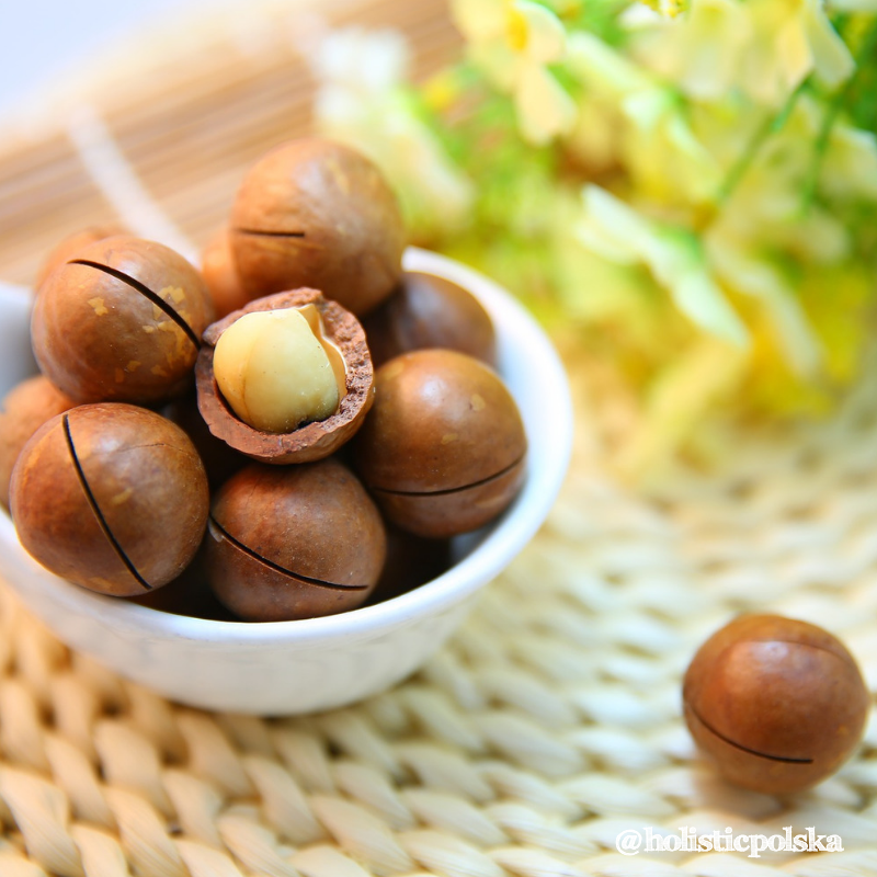 Orzechy makadamia zalecane przy cukrzycy.