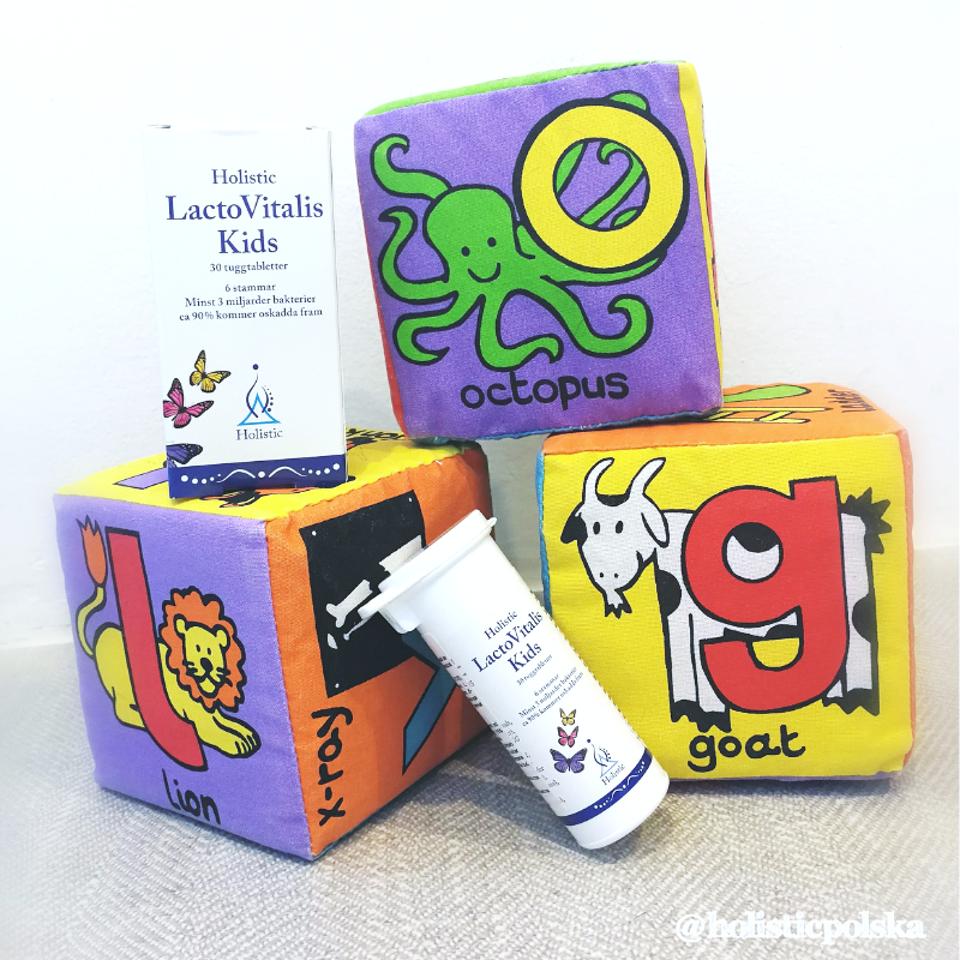 LactoVitalis Kids 6 miliardów bakterii kwasu mlekowego i błonnik dla zdrowszej flory bakteryjnej jelit