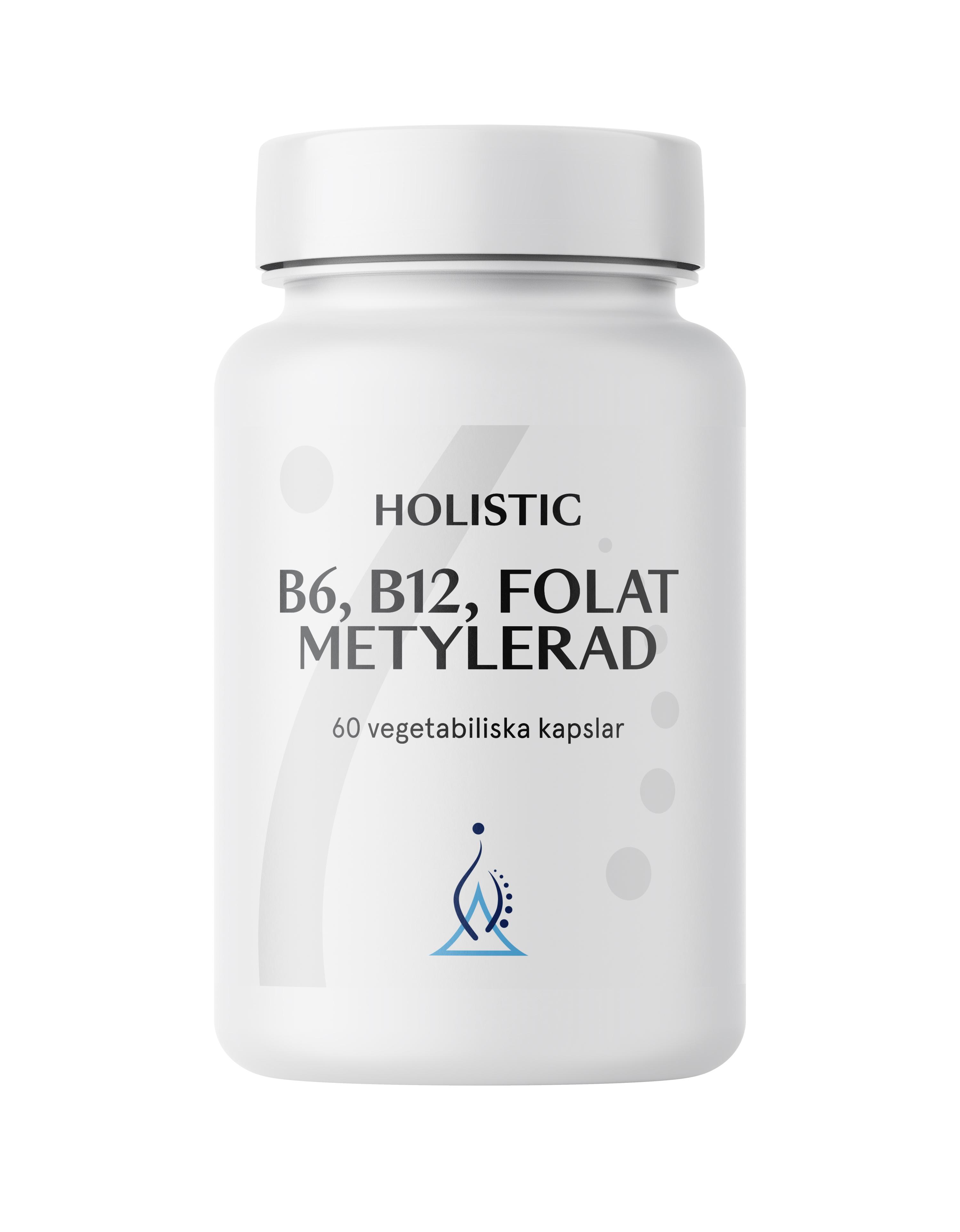 Holistic B6, B12, Folat Metylerad (metylowane B6, B12, kwas foliowy)